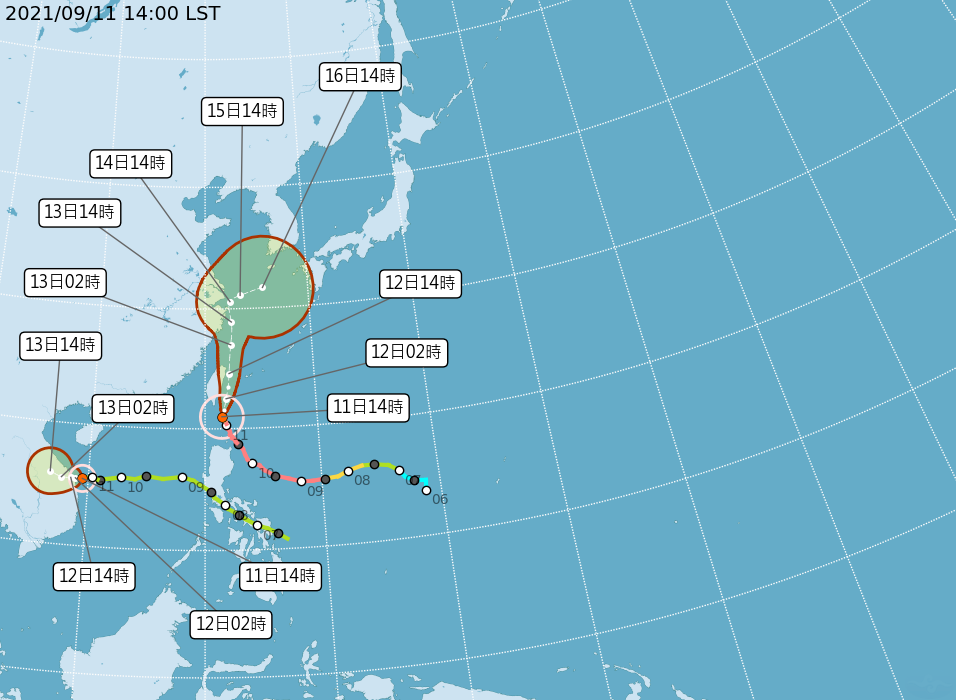 璨樹颱風發威   東半部與恆春地區越晚風雨越強