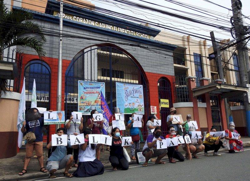 500多天無法上課 菲國學生示威要求重返校園
