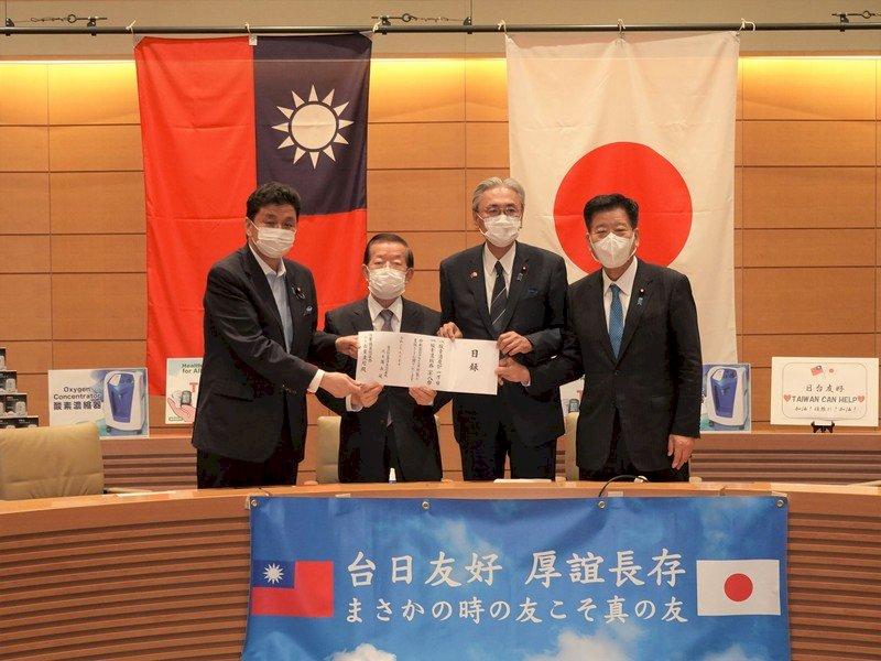 感謝日本援台疫苗 謝長廷代表政府捐醫療物資