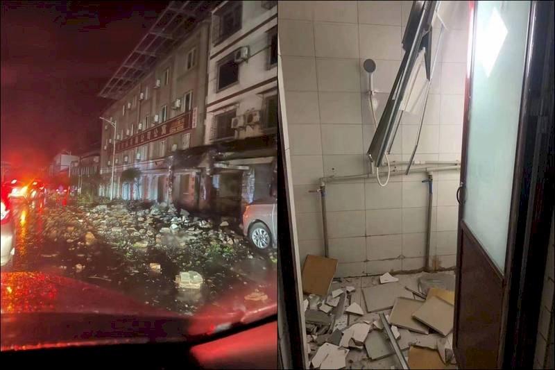 中國四川6.0淺層強震3死 至少1萬人撤至庇護所