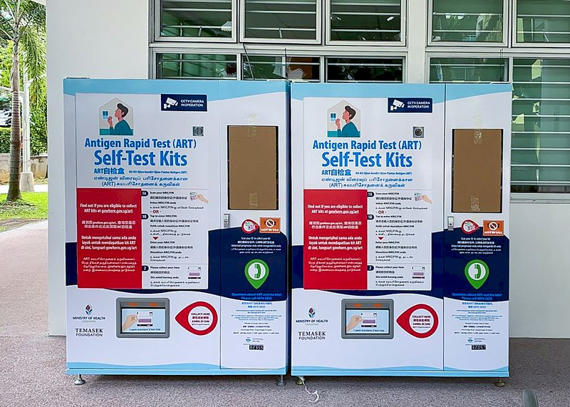 新加坡確診者激增 設快篩劑販賣機強化自行檢測