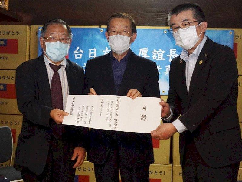 台捐日124萬片口罩 謝長廷:感念首批贈送疫苗