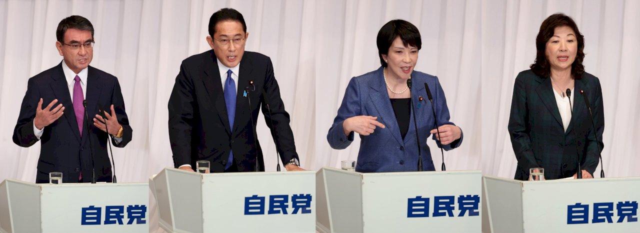 日本自民黨總裁選舉明登場 4候選人強調抗中搏支持