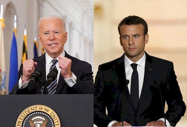 潛艇訂單爭議 法國:馬克宏與拜登將通電話討論