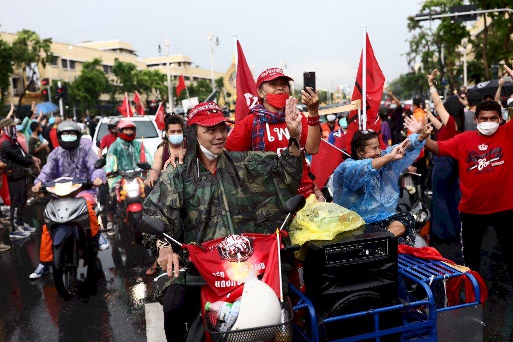 泰國政變週年紀念 抗議者要求帕拉育下台