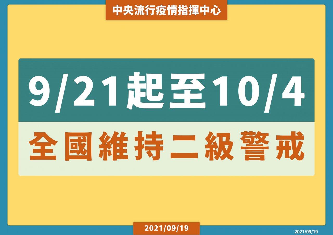 二級警戒持續至10/4 陳時中:有條件開放會展活動
