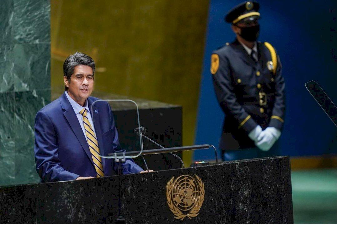 帛琉總統聯大顯著篇幅挺台 敦促讓台灣人民發聲