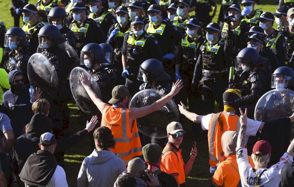 確診人數再創新高 墨爾本反封城示威者消失