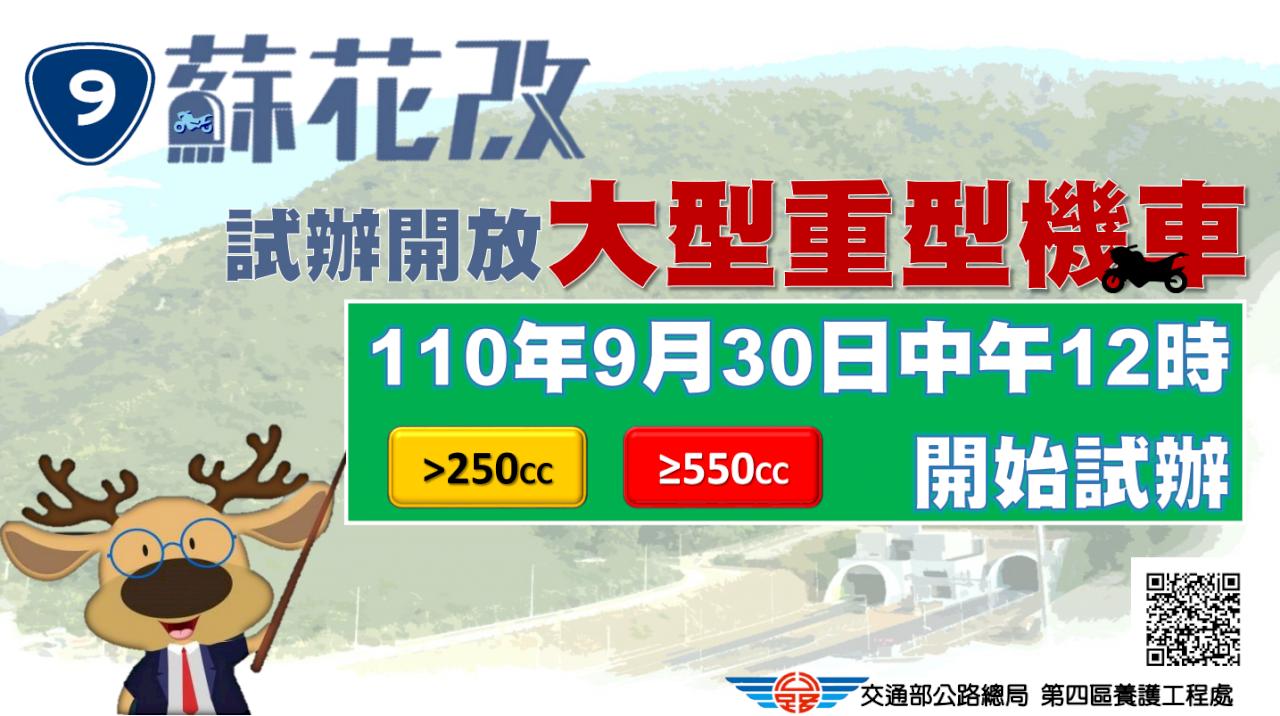 蘇花改開放大型重機通行 9/30午起試行半年