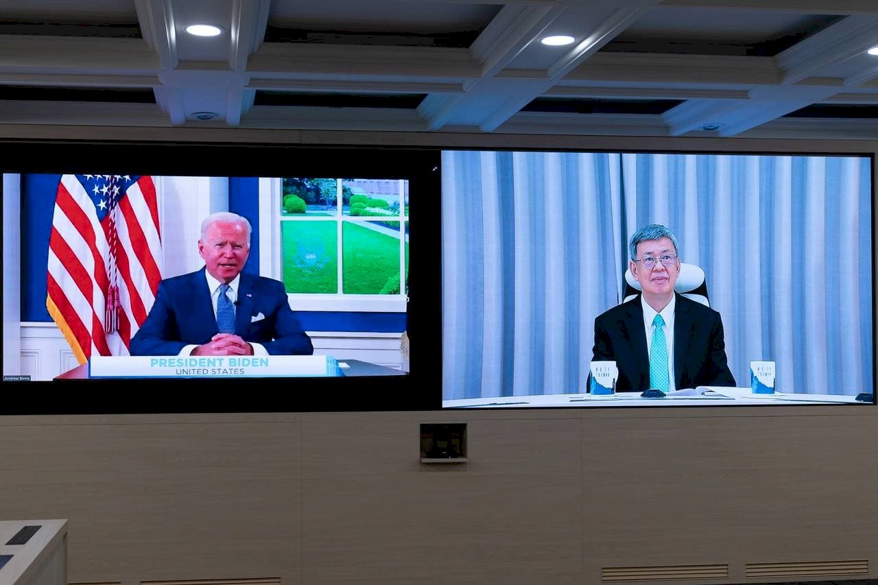 陳建仁出席拜登主持的全球線上COVID-19峰會