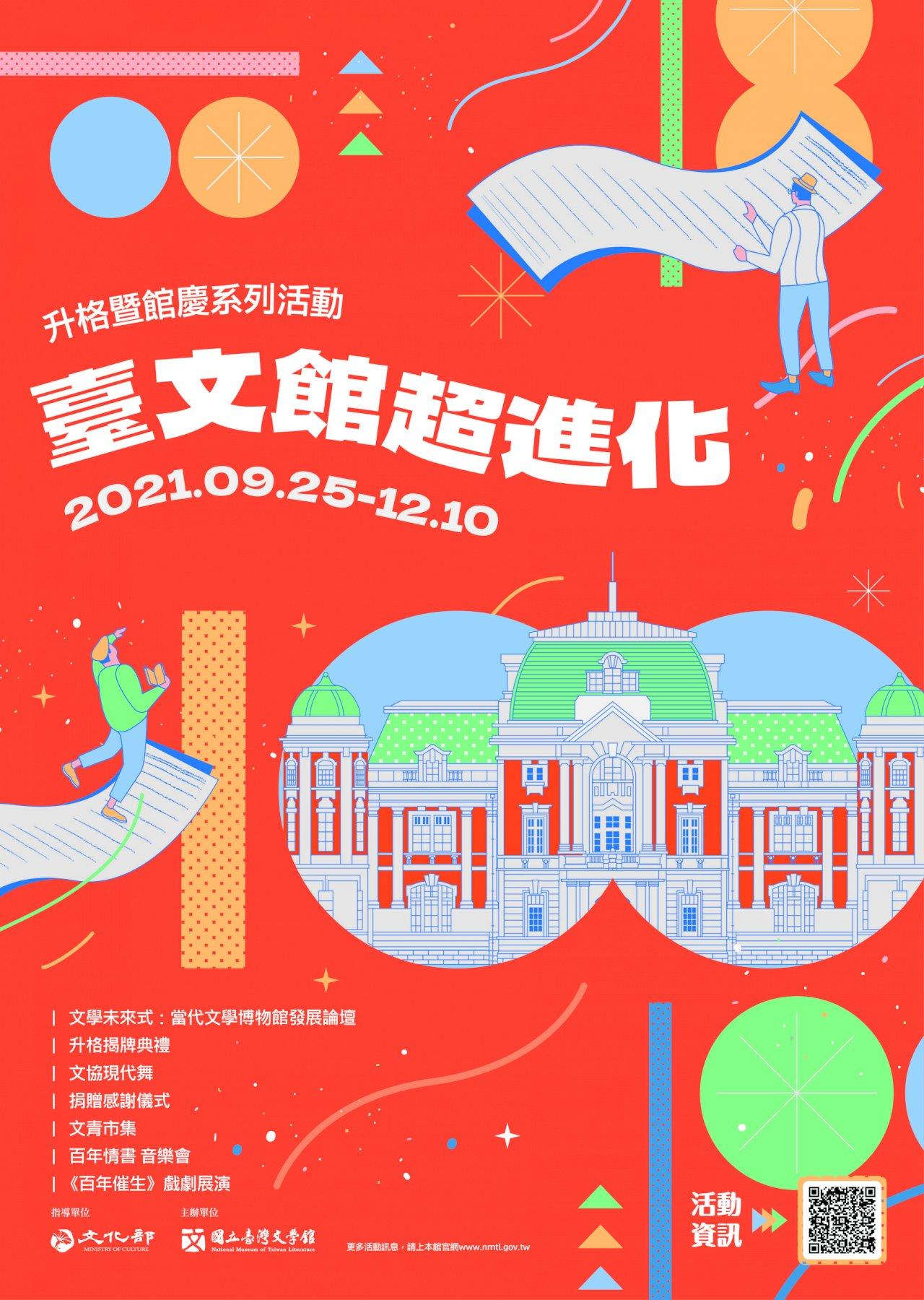 台文館10月17揭牌 正式升格三級機構