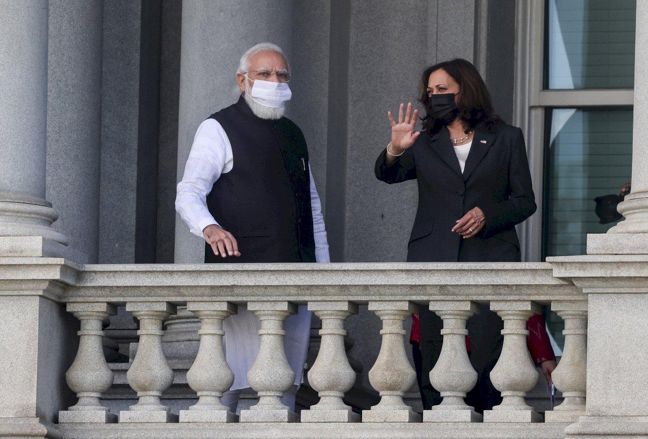 強化與亞洲關係 賀錦麗晤印度總理莫迪