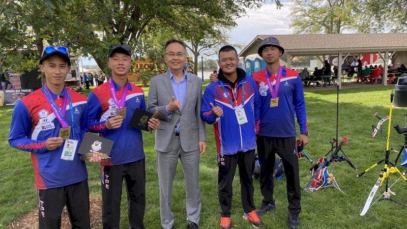 台灣射箭反曲弓男團 世錦賽逆轉射日摘銅