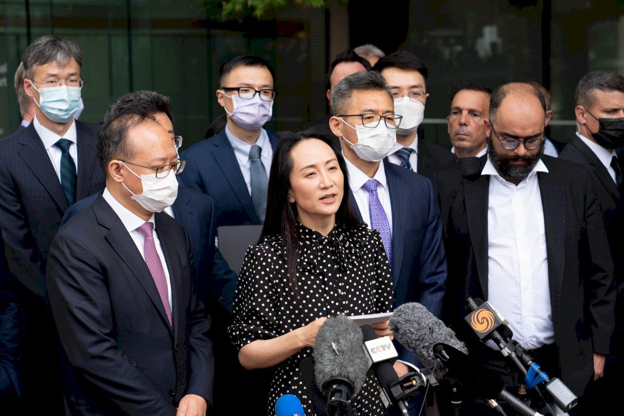 孟晚舟獲釋 中國官媒:為重啟中美、中加關係提供契機