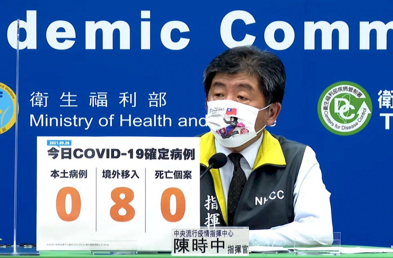 國內COVID-19本土今再「加零」新增8例境外