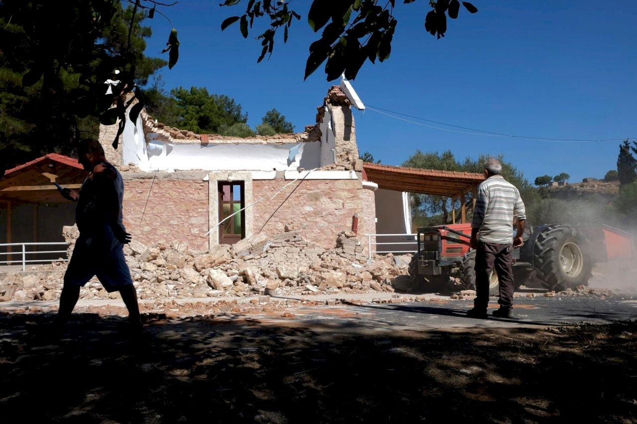 希臘克里特島6.5強震 已知1死