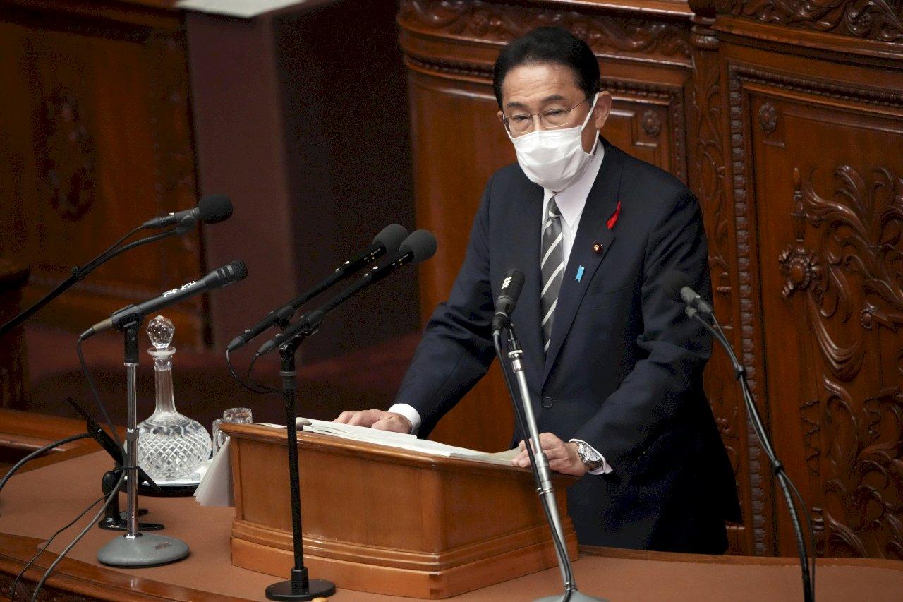 上任後首次施政演說 岸田矢言盡全力終結COVID-19危機