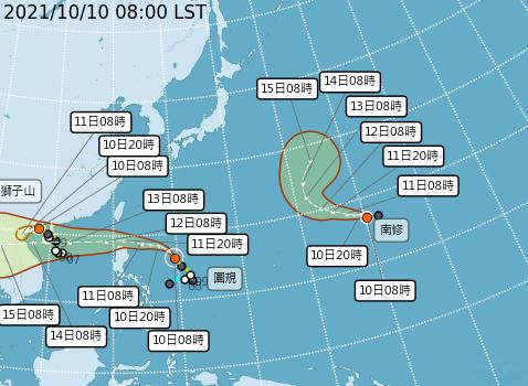 颱風圓規接近 氣象局估晚間8時發布海警